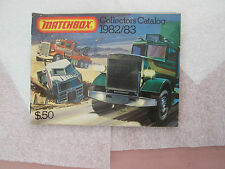 1982-1983 MATCHBOX 52 Pg Collector's Catalog Advertisement Brochure MINTY