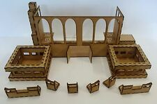 Military Building Arms Factory Wood Scenery terrain  for warhammer 40k wargames