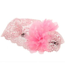New Baby Girl Toddler Lace Headband Hair Bow Accessories 3 Colors Headwear QK