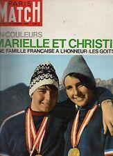 paris match n°775 marielle et christine goitschel 1964