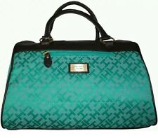 Tommy Hilfiger Signature Woman's Turquoise Apple Green Jacquard Bag RRP $249