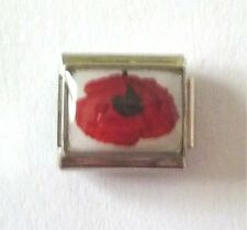 9mm Classic Size Italian Charm  P24  Remembrance Poppy