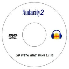 NEW Audacity 2 CD / DVD Professional Audio Production Editing Recording Software