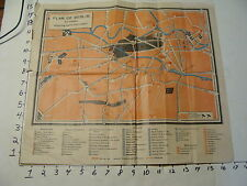 Vintage Travel Paper: PLAN OF BERLIN for visitors from book EARLY