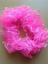 A Pretty Pink And Silver Scrunchie Ponytail Band/Hair Bobble
