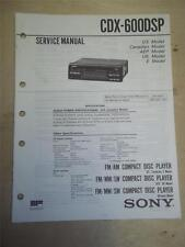 Sony Service Manual~CDX-600DSP CD Compact Disc Player/Receiver~Original~Repair