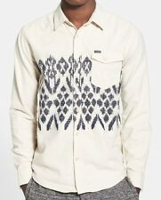 "Volcom L/S Button Up Shirt ""Giza"" Off White - Medium - NWT - Reg $90"