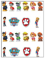 PAW PATROL BIRTHDAY EDIBLE STAND UP CAKE TOPPERS DECORATIONS PREMIUM WAFER CARD