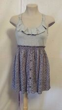 Cupids Diary Ruffle Grey Ditsy, Top Floral Sundress, Size L