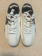 New JR Nation Women's Camber Shoes White with Black & Red Trim Size 7.5 MSRP $70