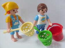 Playmobil Children with bucket & shrimping nets NEW holiday/dollshouse figures