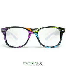 GloFX Starburst Diffraction Glasses Laser Etched Hard Plastic Light Diffracting