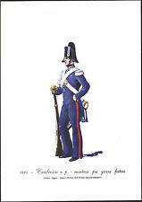 STAMPA UNIFORMI STORICHE - CARABINIERE A PIEDI - MONTURA GIORNI FESTIVI - 1834