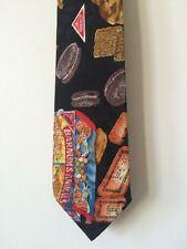 Vintage Novelty Tie 100% Silk  1992 Nicole Miller Nabisco Animal Crackers Oreos