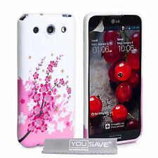 Accessories For The LG Optimus G Pro E985 Floral Bee Silicone Gel Case Cover UK
