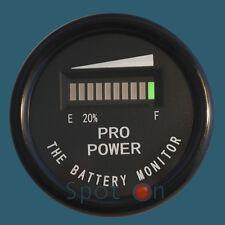 """2"""" 36 volt ROUND Battery Indicator, Meter, Gauge -  Boat, Golf Cart, Forklift..."""