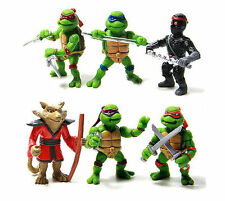 HOT 6Pcs Teenage Mutant Ninja Turtles Action Figures Toy New Classic Collection