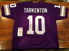 Fran Tarkenton Autographed Minnesota Vikings Purple Custom Jersey HOF 86 JSA