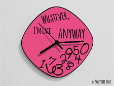 Whatever I'm Late Anyway / Oval Pink - Wall Clock