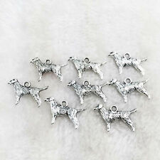 10pcs Dog Tibet silver Charm Pendant beaded Jewelry Findings h41