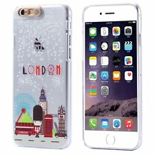 Coque transparente rigide effet lumineux (Flash LED) pour iPhone 6 / 6S   London
