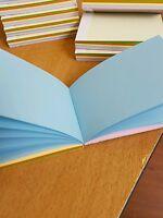 10 X A7 PLAIN COLOURED PAPER MINI JOTTER/ NOTE PADS