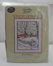 "Something Special ""Winter Scene"" Counted Cross Stitch Kit - New Sealed in Pkg"