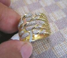 NEW DAVID YURMAN WILLOW FIVE-ROW 18K YELLOW GOLD RING WITH DIAMONDS retail $5300