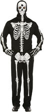 Skeleton Bone Print Hooded Body Suit Halloween Fancy Dress Costume Size XL P7747