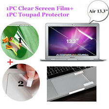 "Macbook Air 13.3"" Clear Screen Film + Touchpad Protector Anti-scratch Skin Guard"
