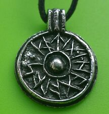 Viking York Shield Pewter Pendant Necklace for Good Luck - Good Health