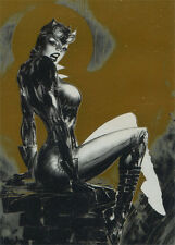 DC Comics Super-Villains Noir Gold Foil Parallel N2 Catwoman #14 of 25