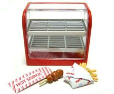 Re-ment dollhouse miniature convenience store snack warmer with snacks