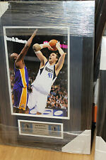 DIRK NOWITZKI UNSIGNED 8x10 NBA DALLAS MAVERICKS PHOTO FRAMED + PLAQUE