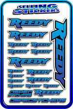 REEDY RC STICKERS DRIFT TOURING MOTOR ESC BATTERY AE 1/12 1/10 RACE BLUE BLEND B