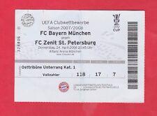 ORIG. ticket UEFA Cup 2007/08 bayern munich-Zenit San Petersburgo 1/2 Finale