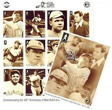 100th Ann. of Babe Ruth's Birth,Stamp Sheet of 12 stamps + Souvenir Sheet Guyana