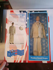 """2003 PRESIDENT RONALD REAGAN ACTION FIGURE - TOY PRESIDENT, INC. - 13"""" TALL -"""