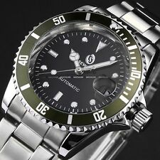 Army Green Automatic Mechanical Mens Military Fashion Date Sport Wrist Watch