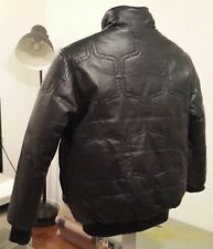 WeSC Leather Goose Down Bomber rocky mountain triple fat goose style black S 36