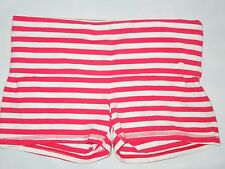 Hollister stretch roll top Shorts  size XS  red stripe
