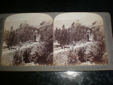 Old stereoview photograph old gate Caesarea Philippi Palestine by Underwood 1900
