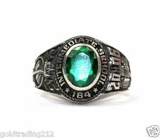 925 STERLING ZPI SIGNED 2006 INTERMEDIATE SCHOOL 184 GREEN CZ RING RG 1739