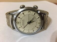 Vintage BENRUS ALARM WATCH Shockprotected  Swiss Made WORKS