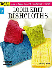 LOOM PATTERN BOOK! LOOM KNIT DISHCLOTHS! PLUS KNOOK~NEEDLE INSTRUCTION~12 CLOTH