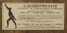 Publicité ancienne L'autogymnaste,gymnastique raisonnée  1907, advert