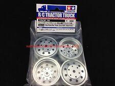 Tamiya R//C Tractor Truck Metal-Plated Rear Wheels 22mm Width Matt Finish # 56518