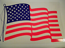 4 USA Flag Decal Reusable Window Static Cling LARGE 10X14 TRUCK,CAR,CAMPER,HOME