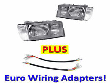 USA 84-94 MERCEDES BENZ W201 DEPO EURO GLASS HEADLIGHT+CORNER LIGHTS PAIR+WIRING