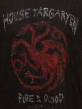 VINTAGE GAME OF THRONES HOUSE OF TARGARYEN ADULT X LARGE GRAPHIC TEE T SHIRT